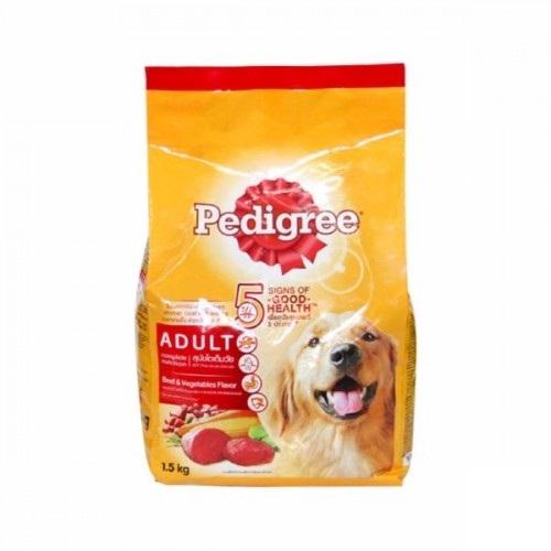 Thức ăn cho chó lớn Pedigree vị thịt bò và các loại rau củ gói 1.5kg