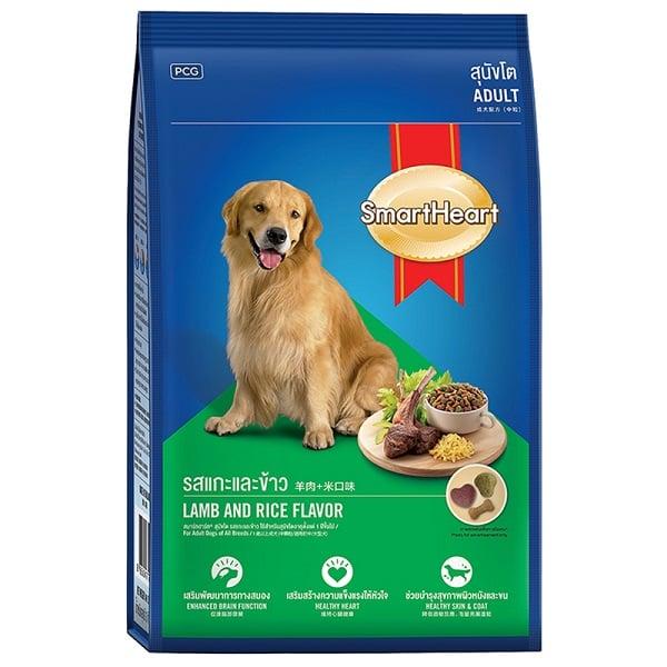 Thức ăn hạt cho chó SmartHeart Adult Lamb & Rice Flavour
