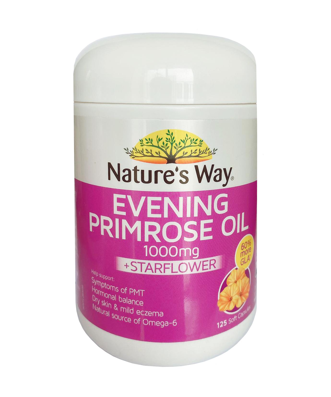 Tinh dầu hoa anh thảo Nature's Way Evening Primrose Oil 125 viên mẫu cũ