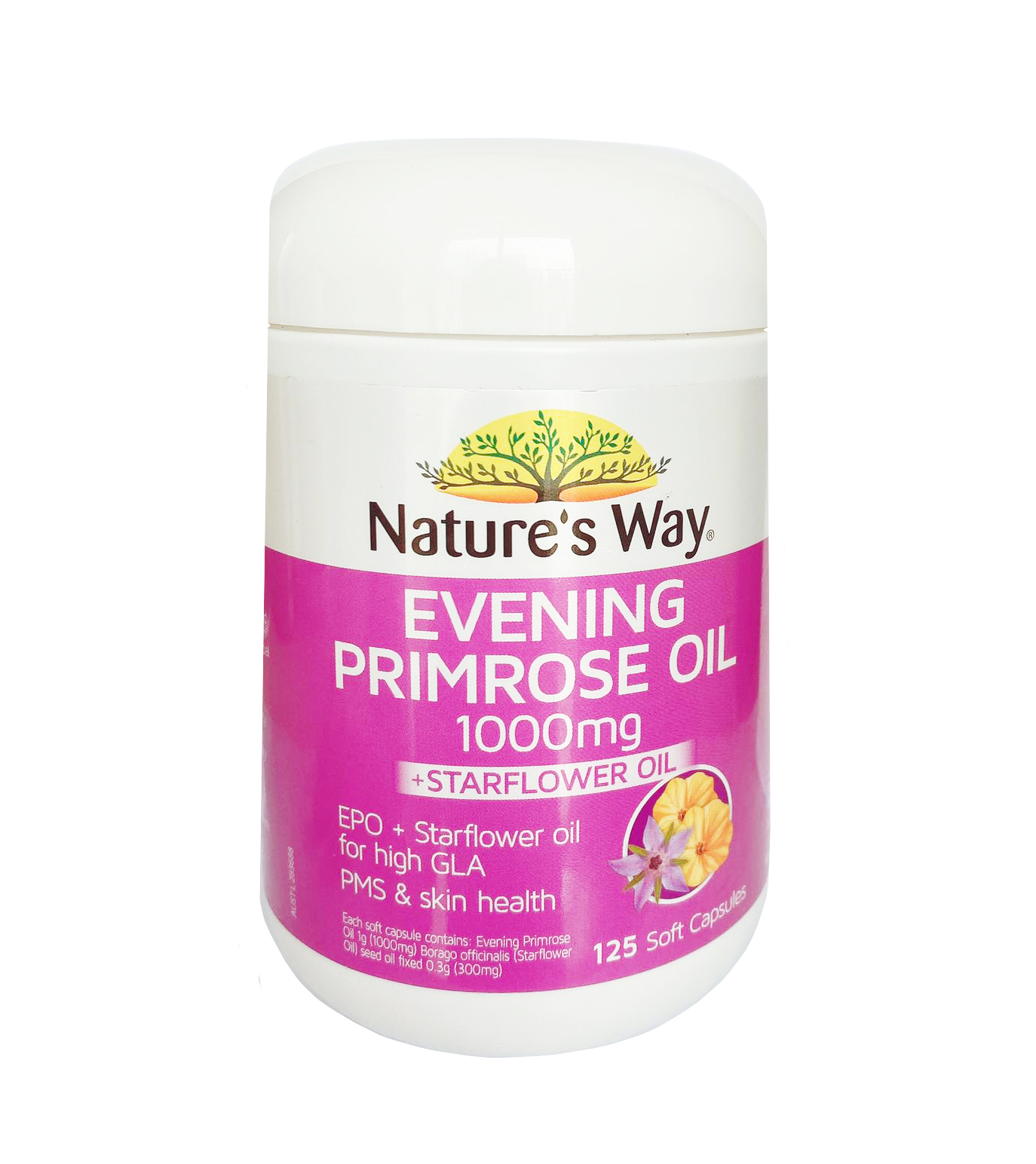 Tinh dầu hoa anh thảo Nature's Way Evening Primrose Oil 125 viên mẫu mới