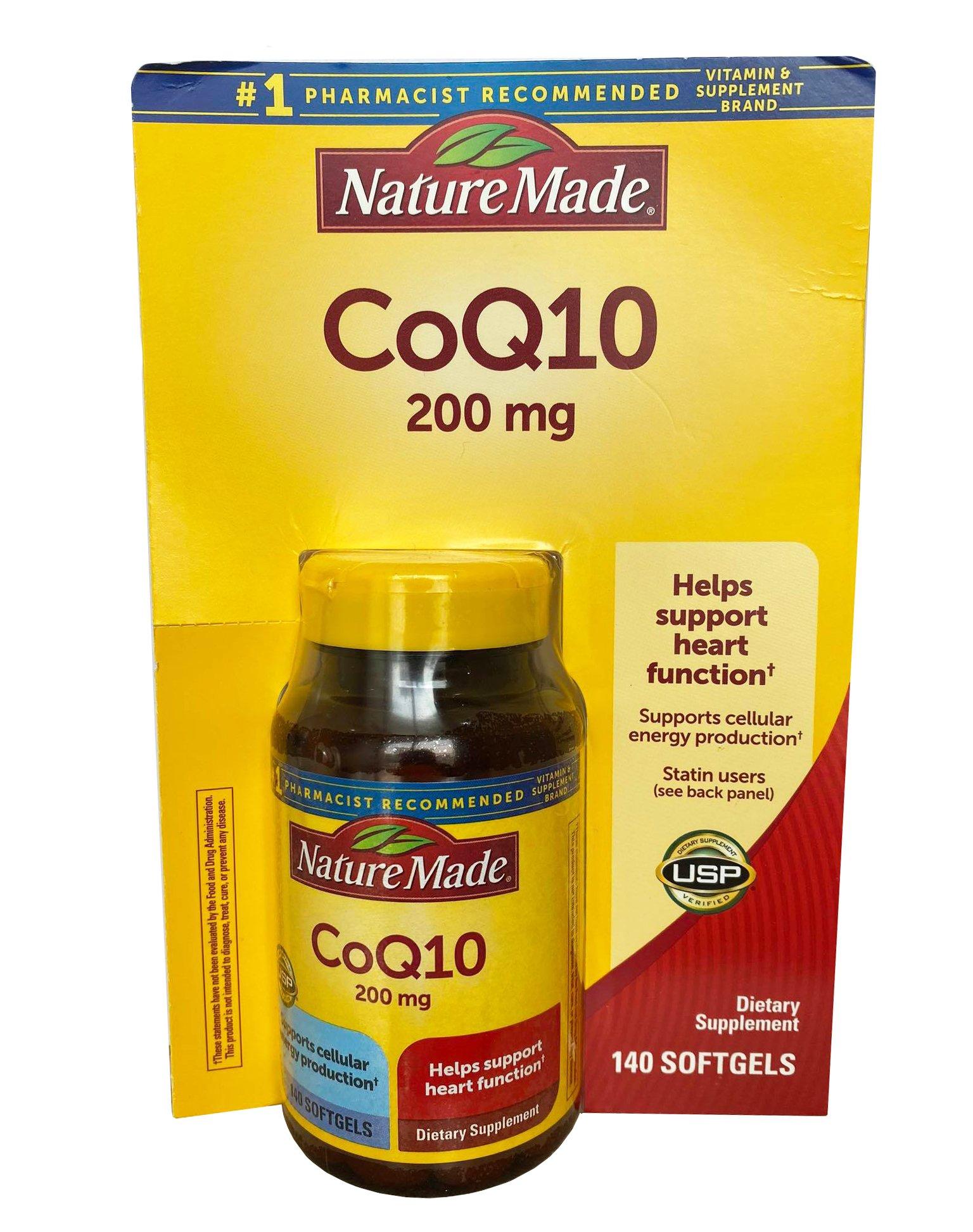 Viên uống bổ tim mạch CoQ10 Nature Made 200 mg của Mỹ mẫu mới