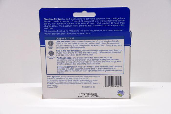 Bột hỗ trợ giảm ký sinh trùng cho bể cá