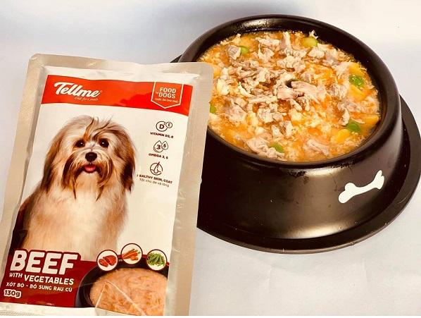 Xốt bò phô mai rau củ Tellme cho chó tiêu chuẩn
