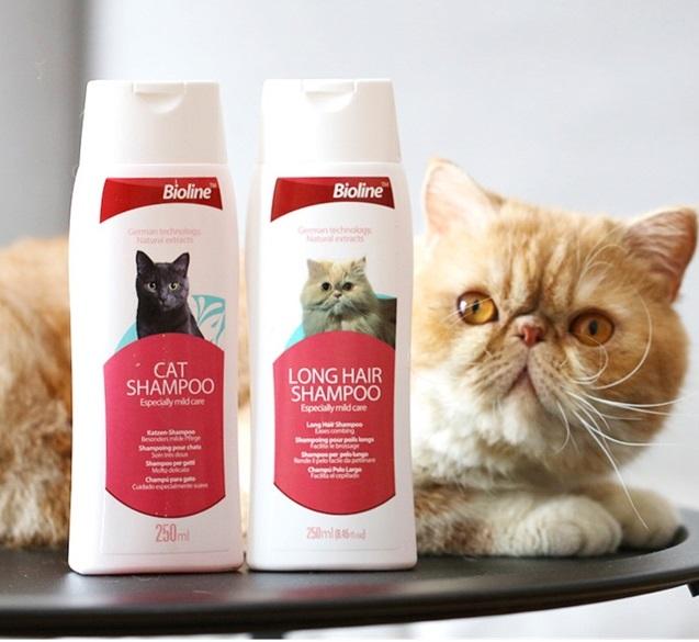 Dầu gội Bioline long hair shampoo cho mèo