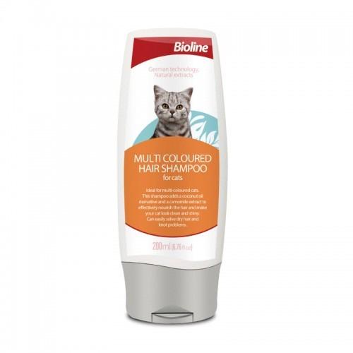 Dầu gội cho mèo Bioline Multi coloured hair shampoo