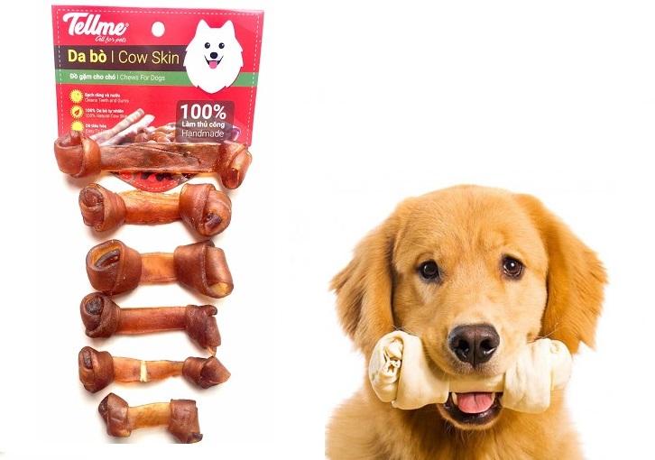 Đồ ăn vặt  gặm da bò BS.50 Tellme cho chó