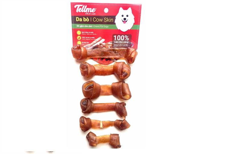 Đồ gặm da bò dạng xương nơ BS.50 Tellme