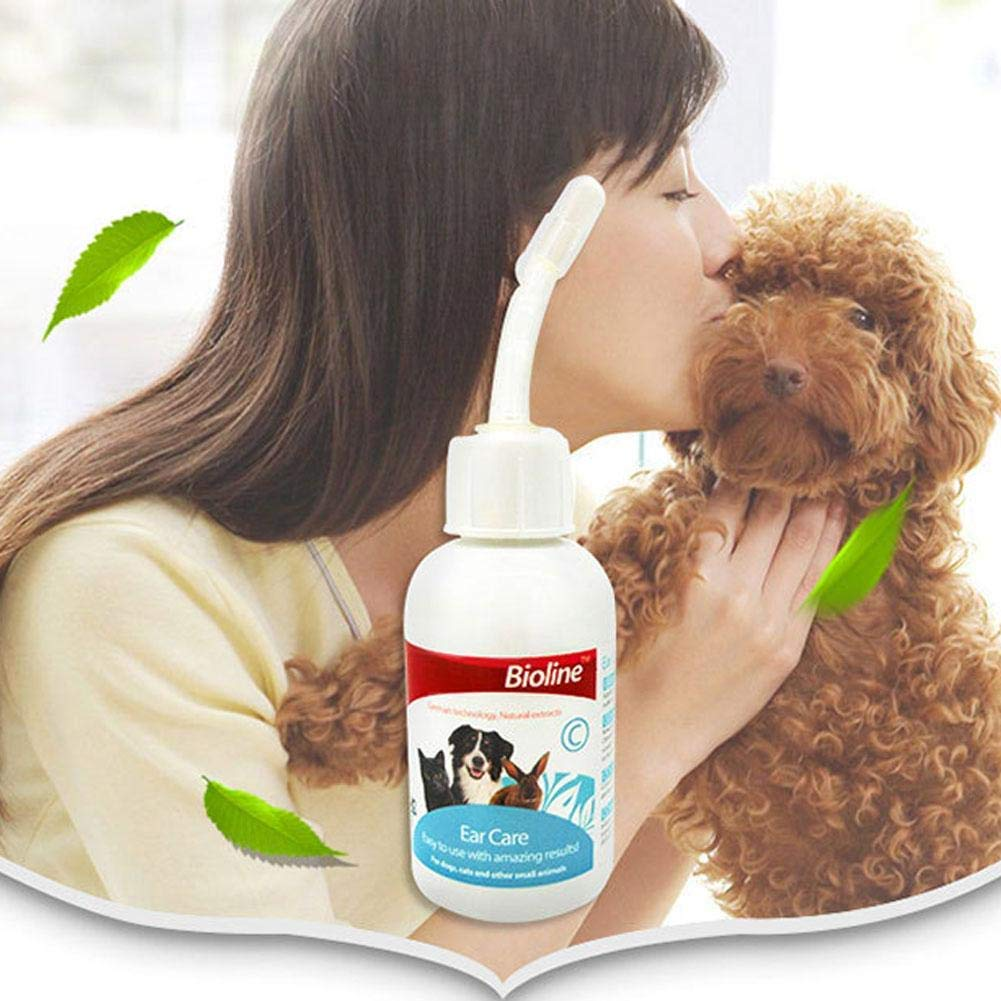 Dung dịch vệ sinh tai Bioline Ear Care chăm sóc cho chó mèo