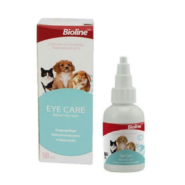 Dung dịch vệ sinh mắt cho thú cưng Bioline Eye Care