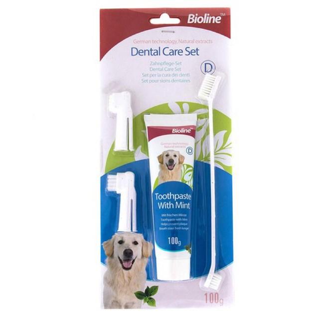 Kem đánh răng Bioline Dental Care Set hưng bạc hà