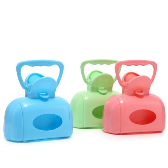 Kẹp hót phân cho chó mèo dạng hộp nhiều màu