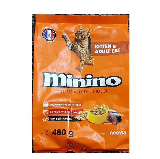 Thức ăn hạt Minino cho mèo