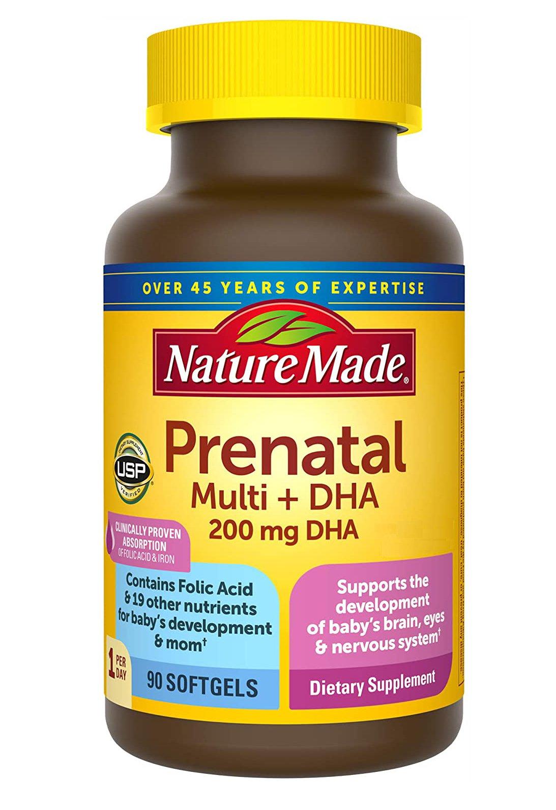 Nature Made Prenatal Multi + DHA Vitamin tổng hợp cho bà bầu 90 viên