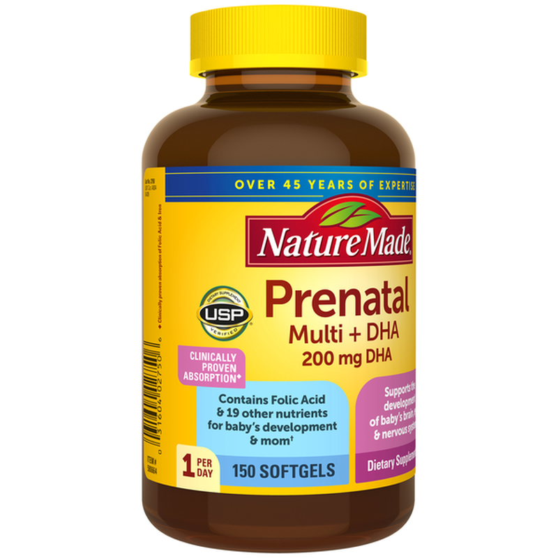 prenatal multi dha nature made mẫu mới