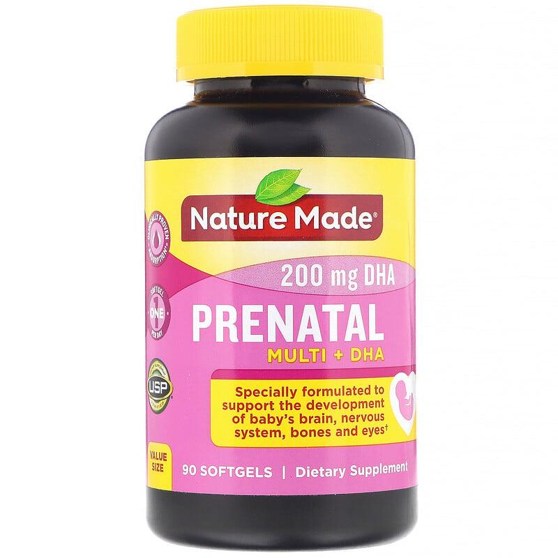 Nature Made Prenatal Multi +DHA Vitamin tổng hợp cho bà bầu 90 viên mẫu cũ