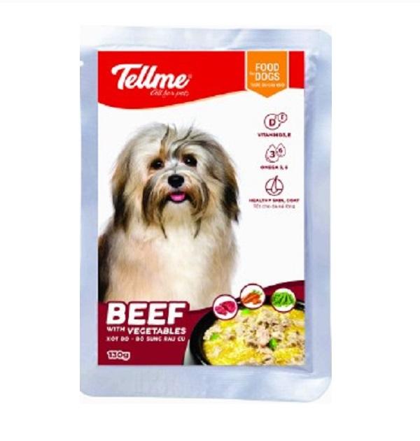 Xốt bò phô mai rau củ Tellme cho chó