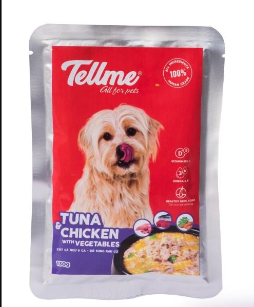 Xốt cá ngừ và gà bổ sung rau củ Tellme