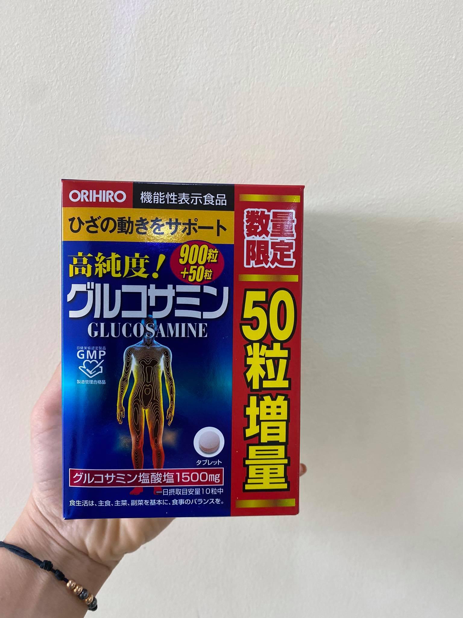 Viên uống Glucosamine Nhật hộp Orihiro 1500mg 950 viên