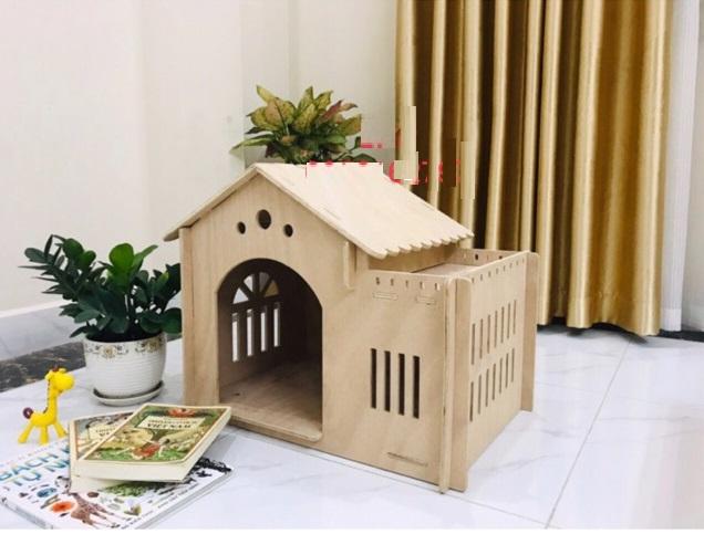 Nhà gỗ cho chó mèo THP068 từ 0 – 20kg