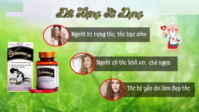 Viên uống Strong Hair sử dụng cho người tóc yếu, gãy rụng nhiều