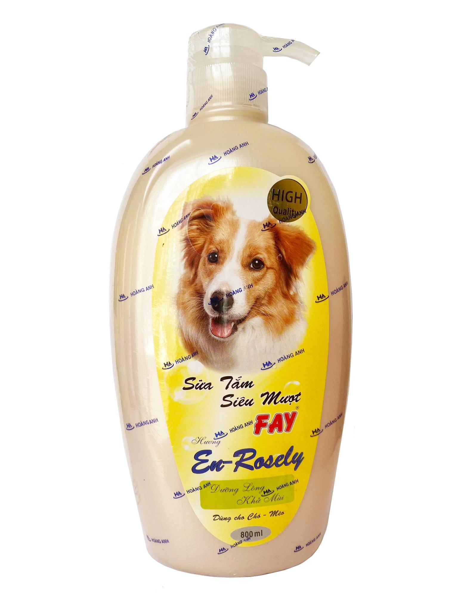 Sữa tắm Fay En-Rosely cho chó mèo chai 800ml có vòi bơm tiện lợi