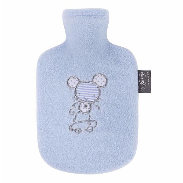 Túi chườm nóng bọc lông cừu Fashy cho trẻ em màu xanh