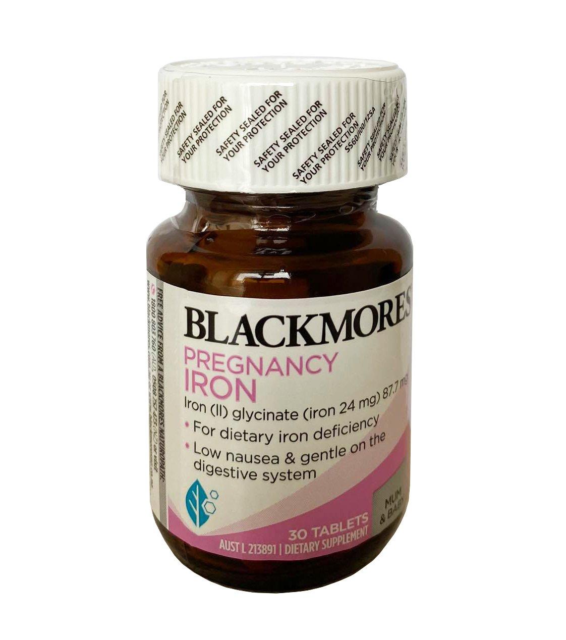 Blackmores Pregnancy Iron cho bà bầu của Úc mẫu mới