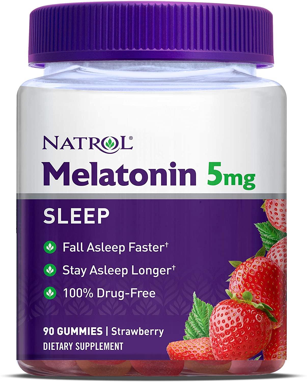 Kẹo dẻo hỗ trợ ngủ ngon Natrol Gummies 5mg 90 viên