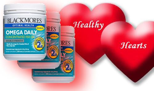 Blackmores Omega Daily Concentrated Fish Oil hỗ trợ bảo vệ sức khỏe tim mạch
