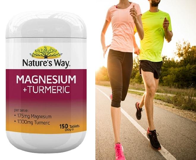 Nature's Way Magnesium + Turmeric bảo vệ sức khỏe xương khớp