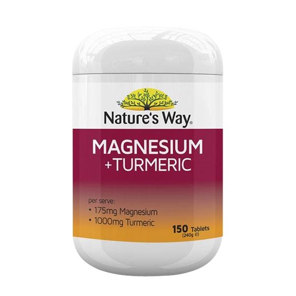 Viên uống Nature's Way Magnesium + Turmeric