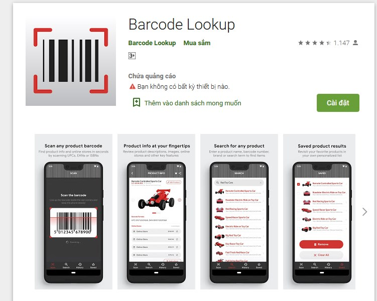 Barcode Lookup Android