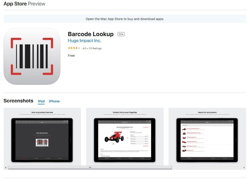 Barcode Lookup IOS