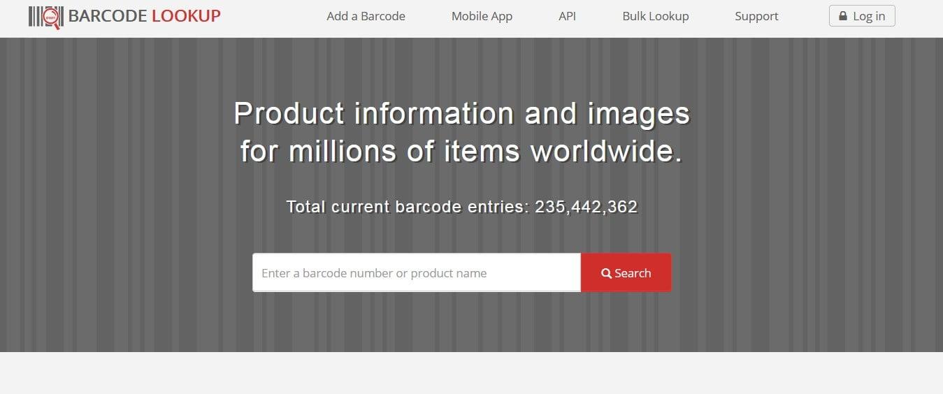 Barcode Lookup Website