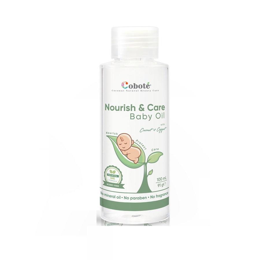 Dầu massage thư giãn, dưỡng ẩm toàn thân cho bé Coboté