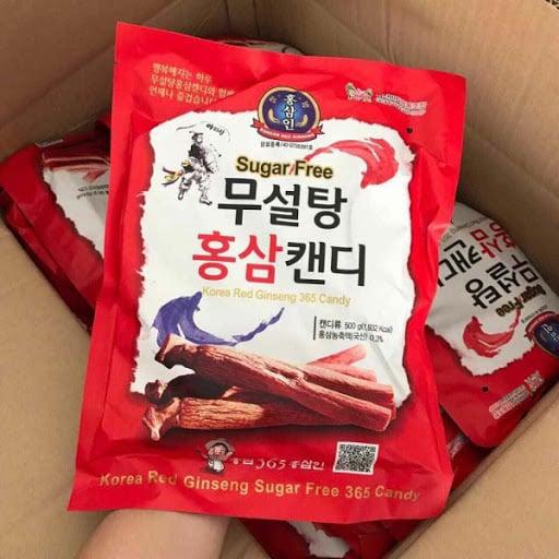 Kẹo hồng sâm không đường 500g Hàn Quốc