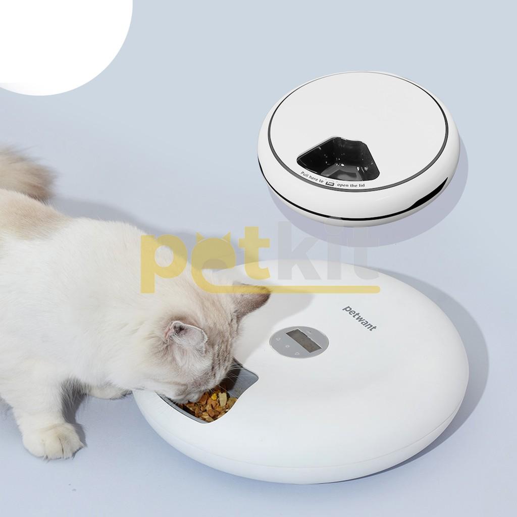 Máy ăn tròn 6 ngăn Petkit Feeder F6 sử dụng cho mèo ăn tiện lợi