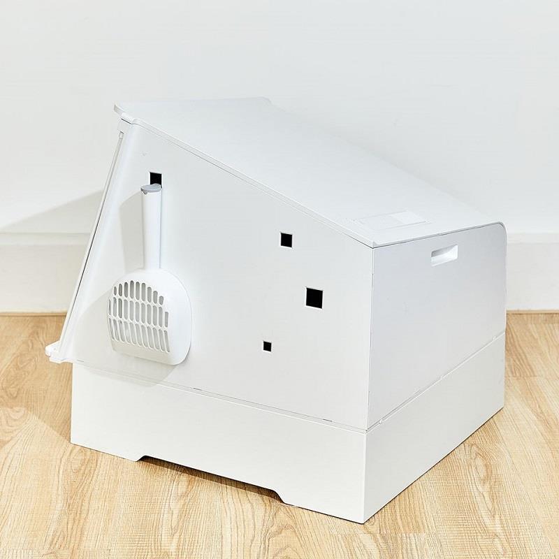 Thiết kế chậu vệ sinh khử khuẩn cho mèo thông minh