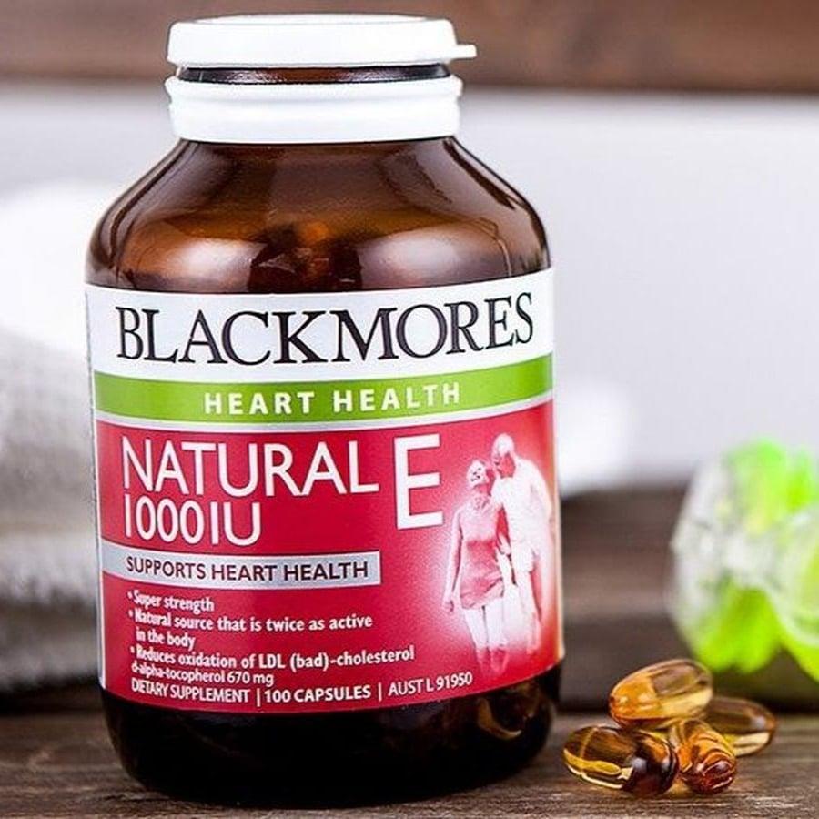 Viên uống Blackmores Natural Vitamin E 1000 IU hỗ trợ bổ sung vitamin E cho cơ thể