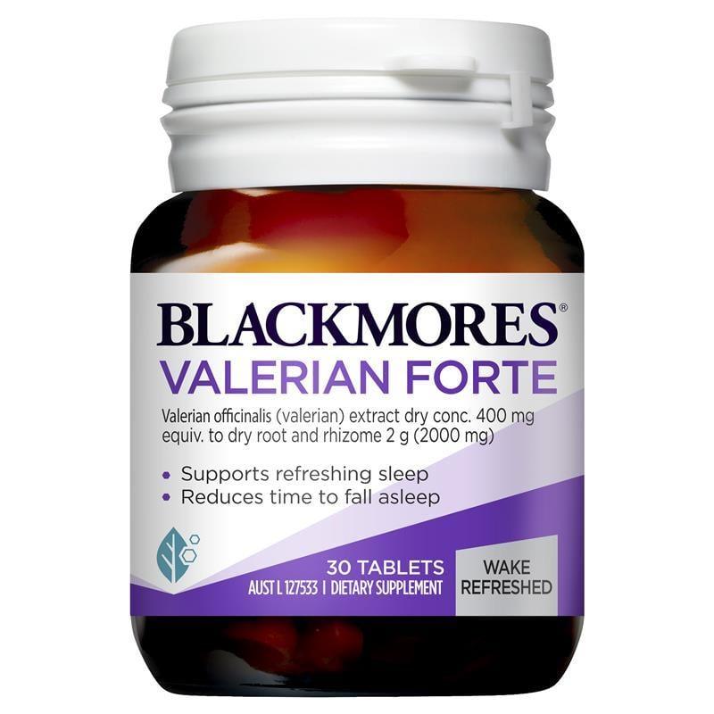 Viên uống hỗ trợ giấc ngủ Blackmores Valerian Forte 2000mg hộp 30 viên mẫu mới