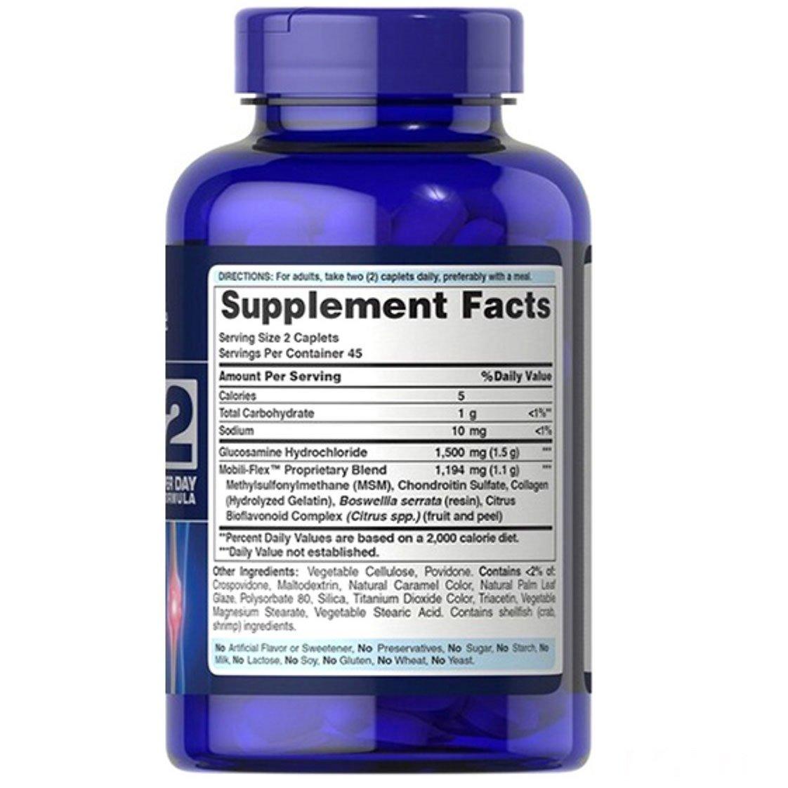 Thành phần chính trong viên uống Puritan's Pride Triple Strength Glucosamine