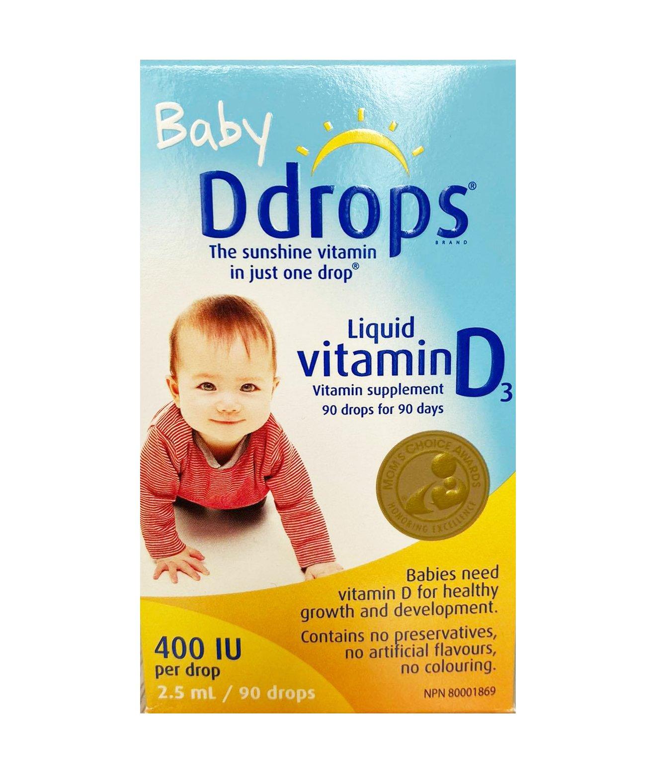 Baby Ddrops Vitamin D3 400IU mẫu mới