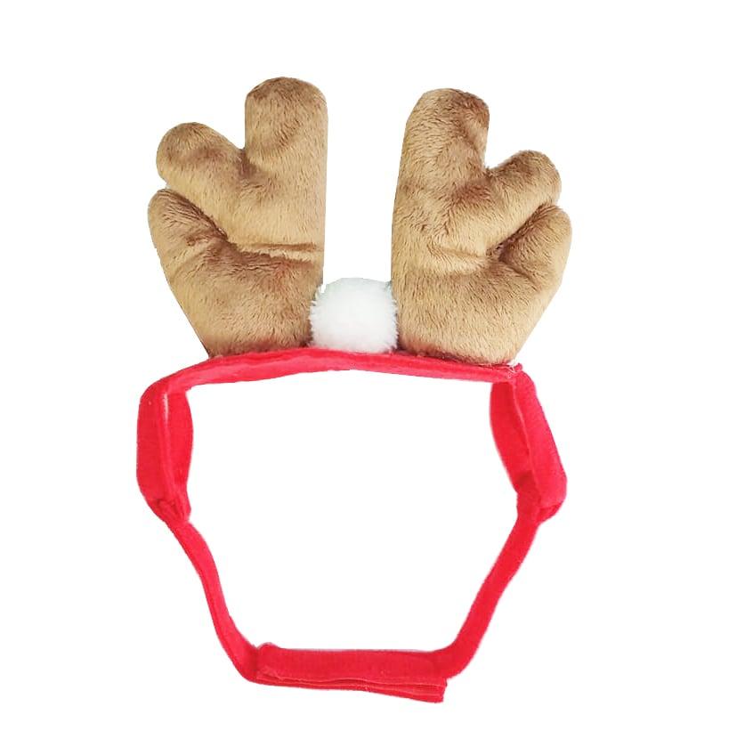 Chú cún đeo bờm hình tuần lộc đáng yêu
