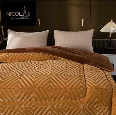 Chăn lông cừu Nicolas nhập khẩu Phápmàu vàng hoàn yến