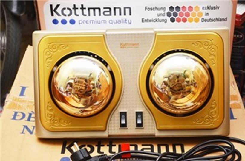 Đèn sưởiKottmann 2 bóng vàng K2B chính hãng, không chói mắt