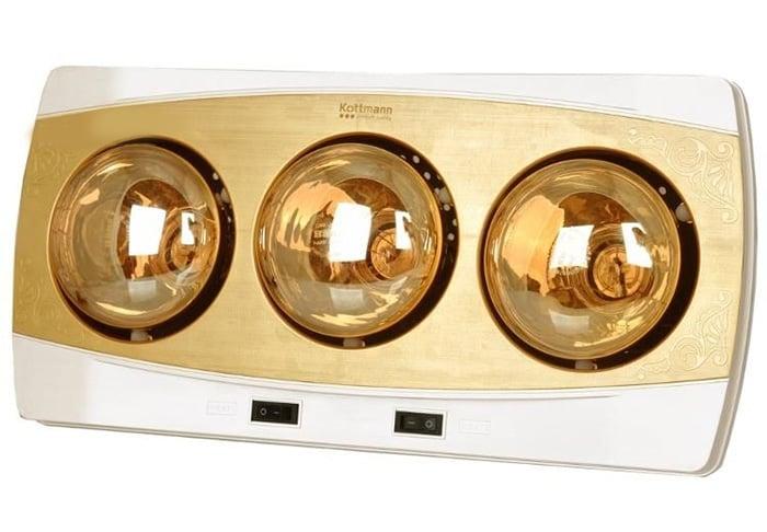 Đèn sưởi nhà tắm Kottmann 3 bóng vàng K3B