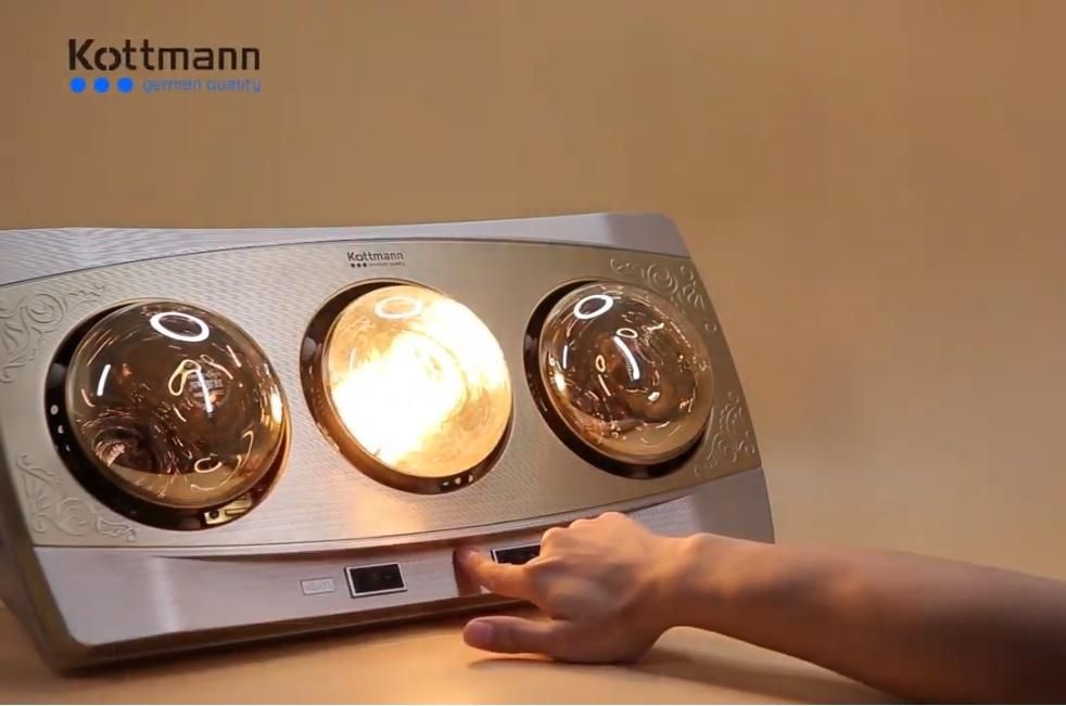 Đèn sưởi nhà tắm Kottmann chính hãng không chói mắt