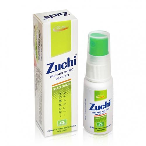 Xịt khử mùi hôi Zuchi hương thảo dược.