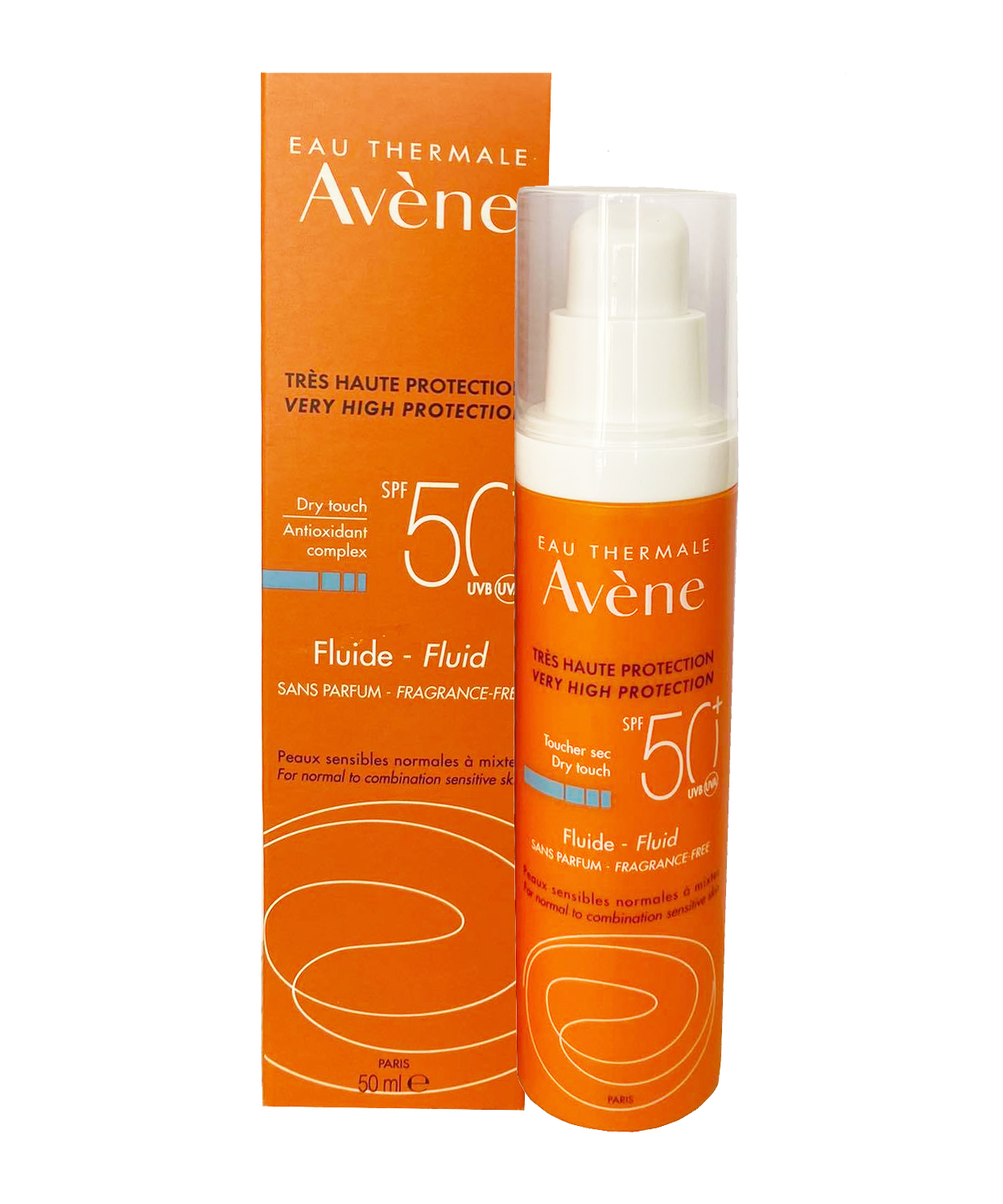 Kem chống nắng avene Very High Protection Fluide SPF50+++