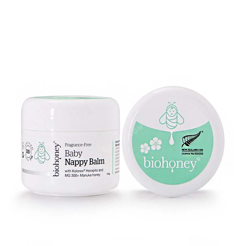 Kem Biohoney Baby Nappy Balm hỗ trợ cải thiện chàm sữa, hăm cho trẻ
